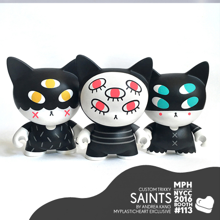 "NYCC 2016 – ""SAINTS"" Custom Trikkys by Andrea Kang"