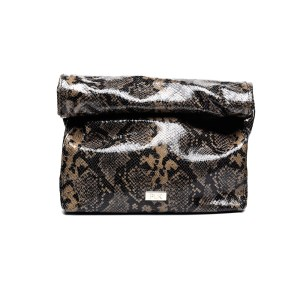 LUNCH PLIK Brown black Snake Print
