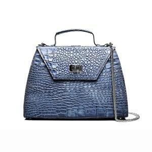 CHARLOTTE PLIK Grey blue Croc Print
