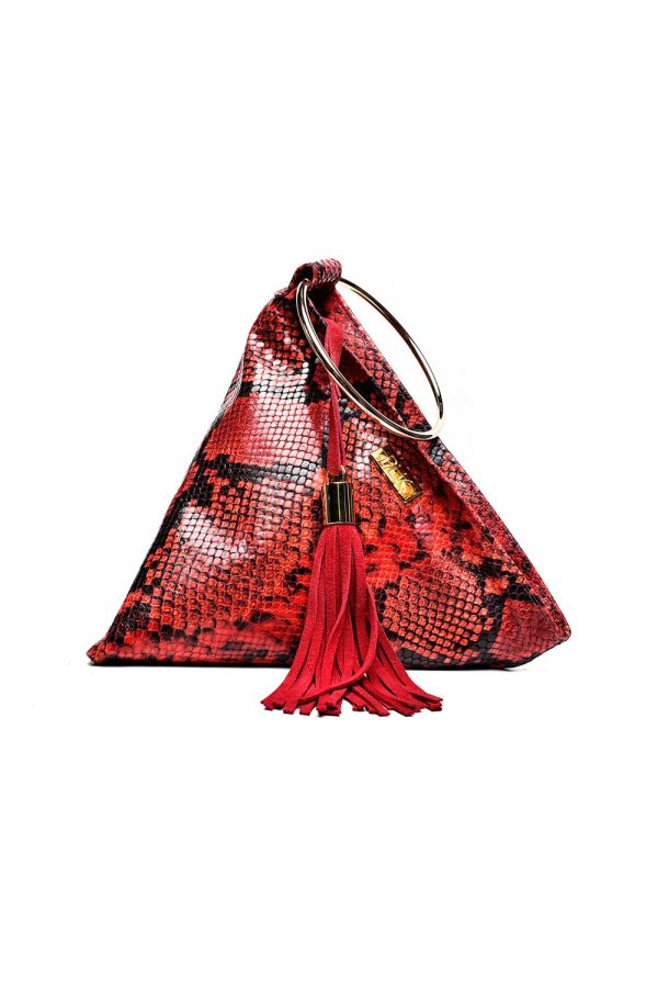 PYRAMID PLIK Mini Red Snake Print