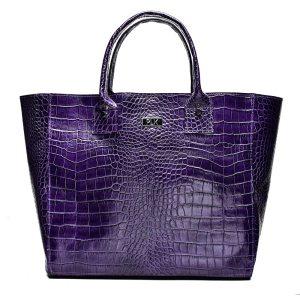 BASKET PLIK Purple Croc Print
