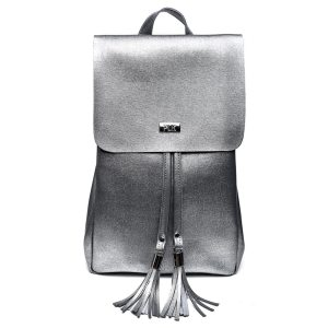 BACKPACK PLIK Smoky Gray Saffiano