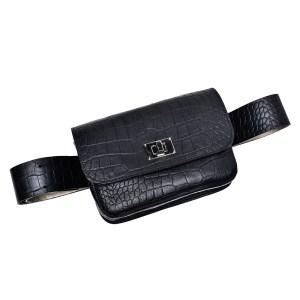 BELT BAG PLIK Black Croc Print