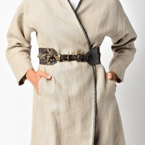 BELT WITH 2 BUCKETS Brown Black Snake