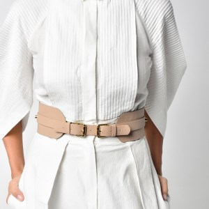 BELT WITH 2 BUCKETS Nude