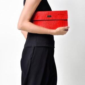 CLASSIC PLIK Mini Red Croc Print