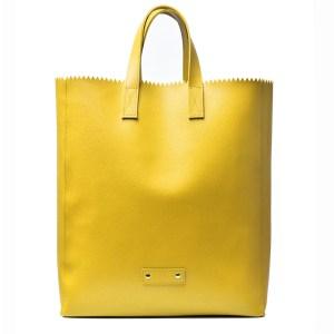 PAPER Plik Yellow Saffiano