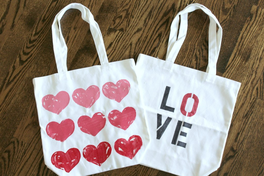 valentines day tote bags
