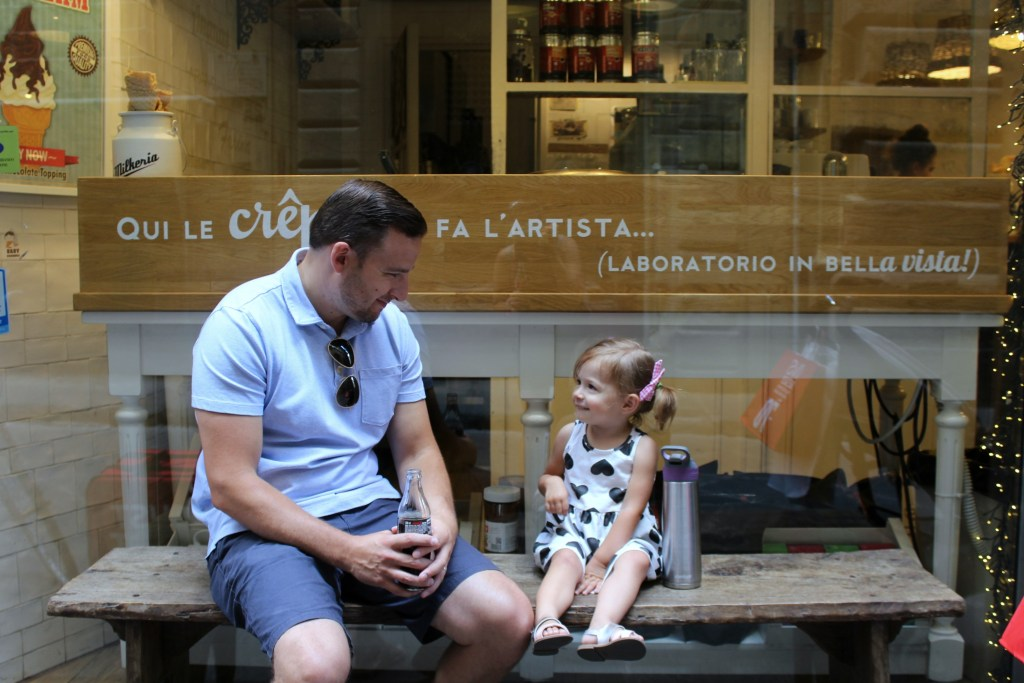 dad and daughter in florence