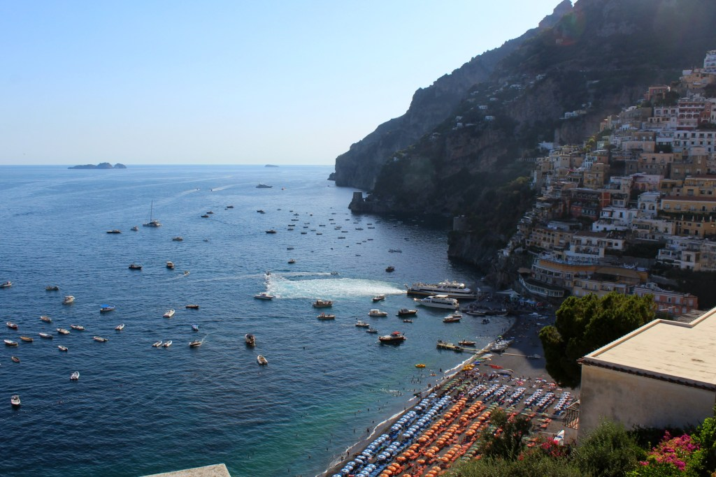 from the top of positano