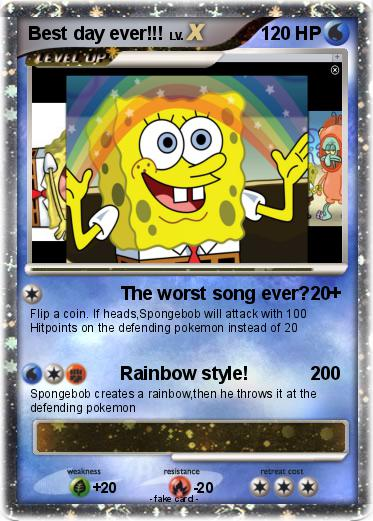Pokmon Best Day Ever The Worst Song Ever My Pokemon Card