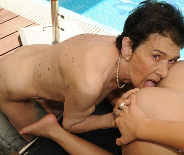 Cherry Kiss Having Hot Sex With Very Old Granny Outdoor
