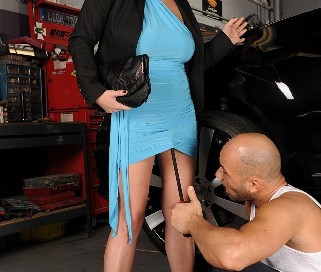 Sara Stone Getting Fucked Hard By Motor Mechanic