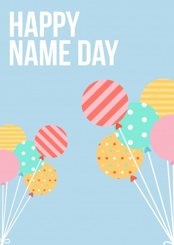 Happy Name Day Congratulation Cards Send Real Postcards Online