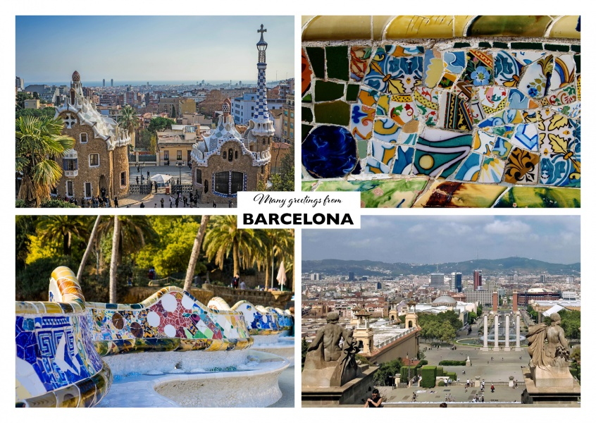 Barcelona Cuatro Collage Vacation Greetings Send