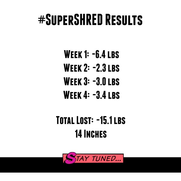 Super Shred Diet Week 4 + Results - My Pretty Brown Blog