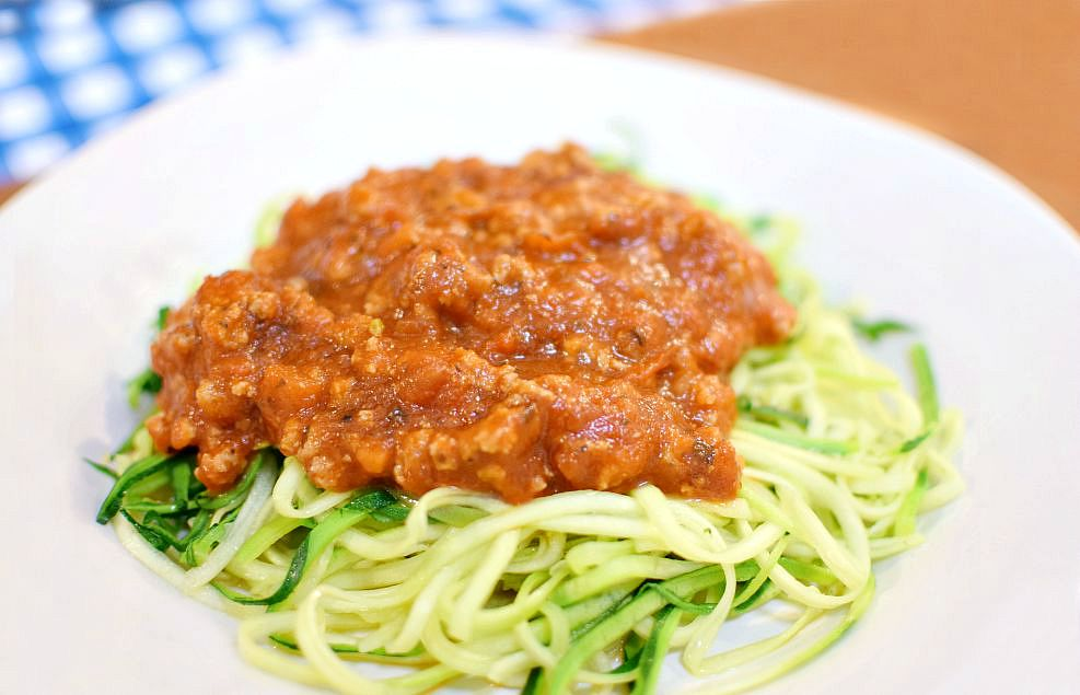 Zoodles with Tomato Cream Sauce