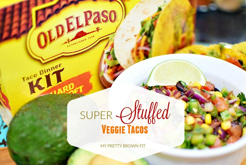 Super Stuffed Veggies Tacos - My Pretty Brown Fit
