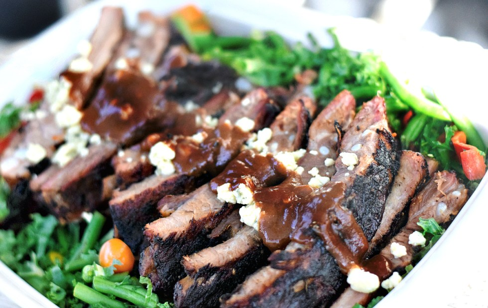 BBQ Ribs with Blue Cheese Infused Hickory BBQ Sauce