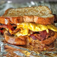 Air-Fryer Bacon, Egg, and Cheese Breakfast Sandwich