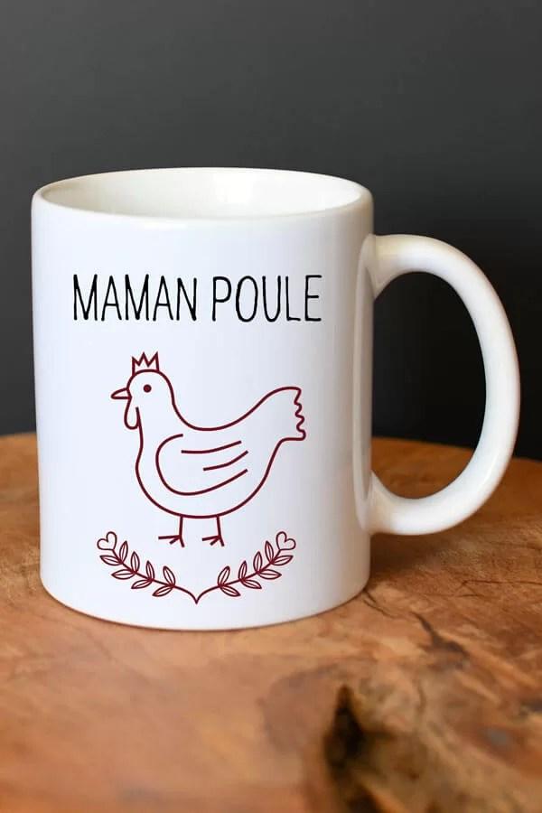 """mug en céramique """"maman poule vintage"""""""