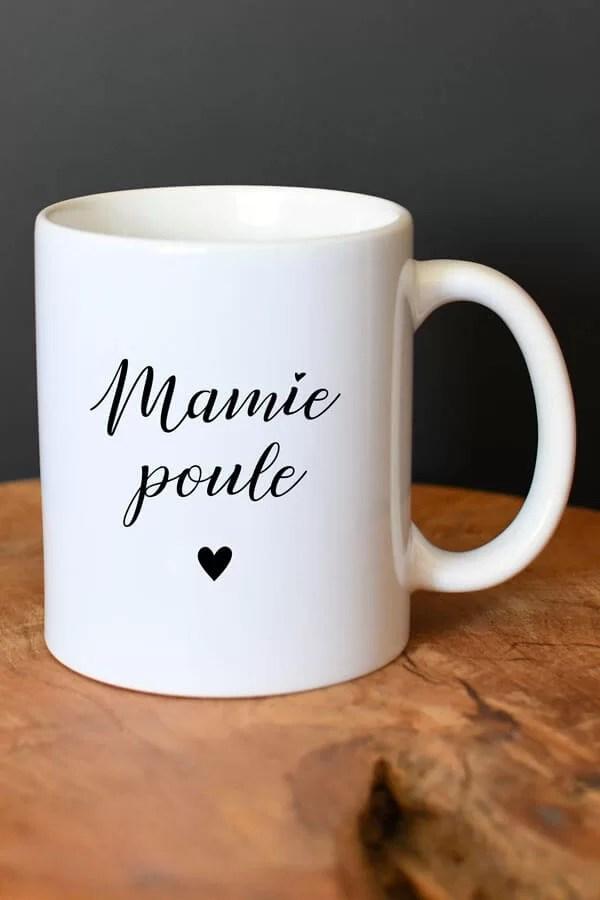 """mug en céramique """"mamie poule"""""""