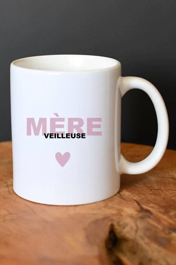 """mug céramique """"mère veilleuse rose"""""""