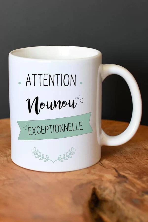 """mug en céramique """"Nounou exceptionnelle"""""""