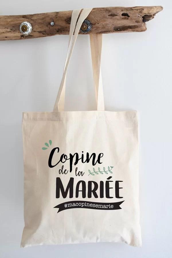 Tote bag pour copine de la mariée