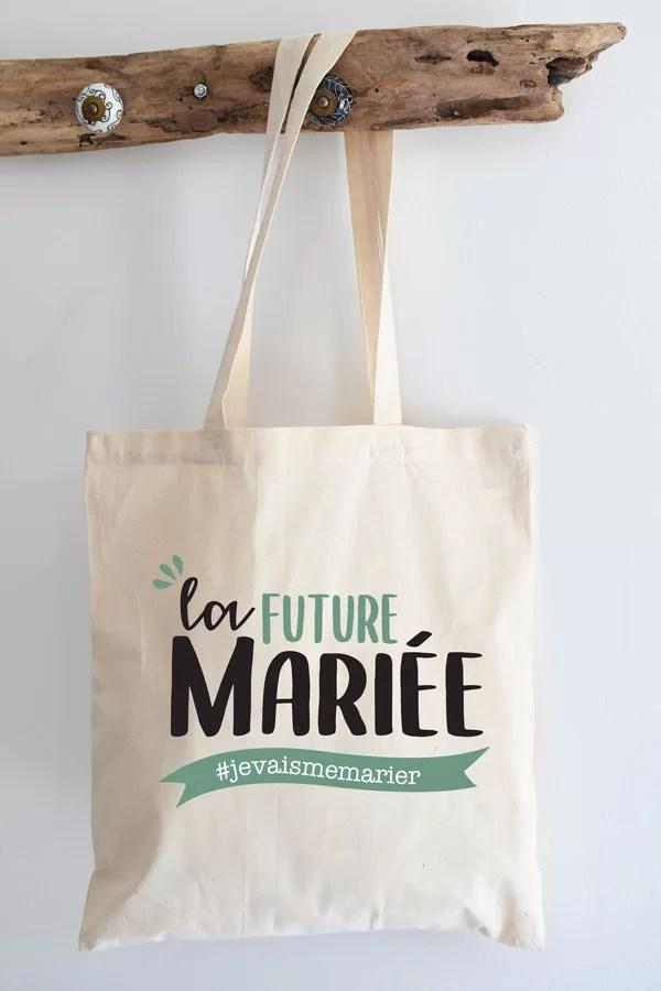 Tote bag pour future mariée