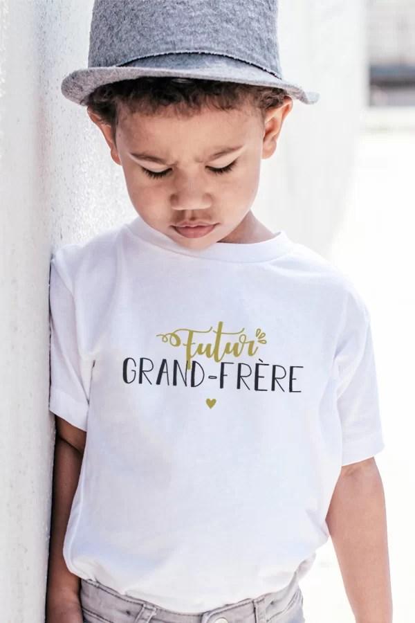 t-shirt pour enfant futur grand-frère