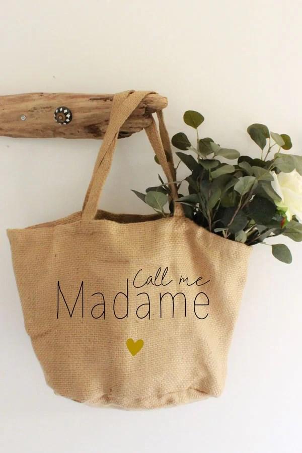 sac en jute call me madame