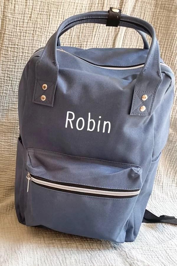 sac à dos bleu personnalise