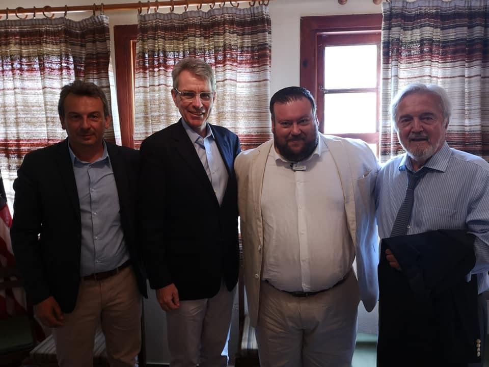 Θεσπρωτία: Νέα συνάντηση του Σπύρου Κυριάκη με τον Αμερικανό Πρέσβη Geoffrey.R.Pyatt