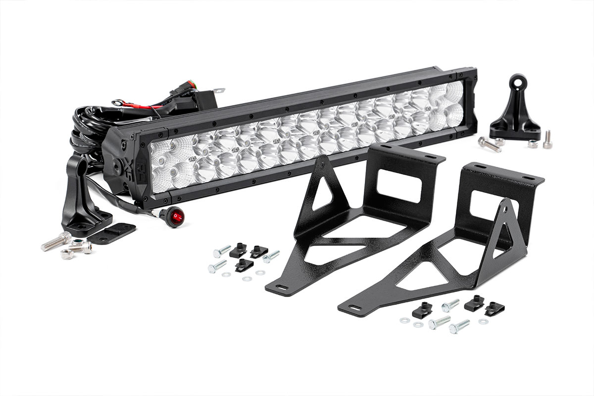 20 Inch X5 Series Dual Row Led Light Bar W Hidden Bumper