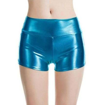 Blue Metallic Shorts
