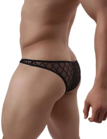 Lattice See Through Bikini Style Underwear