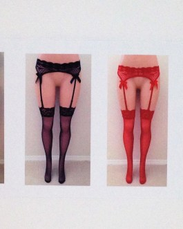 2 pc Matching Lace Garter Stocking Set In 4 Colors