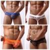 Men's Mesh Fishnet Briefs With Stretch Pouch