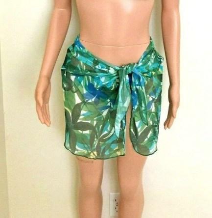 Sheer foliage pattern sarong