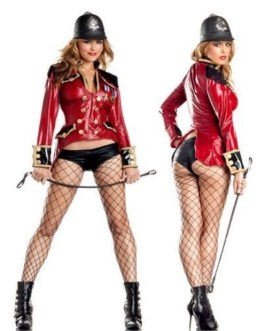 """2 Piece Adult Ravishing Royal Guard Costume By """"Be Wicked"""" With Fishnet Hose"""