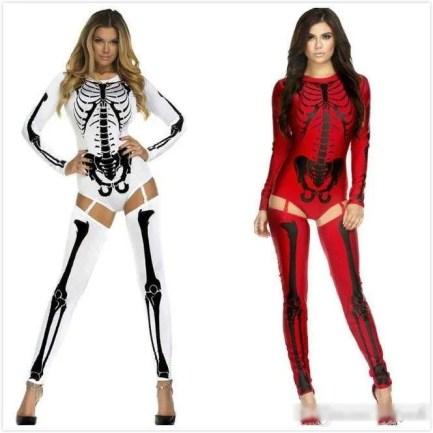Bad to the bone skeleton costume Halloween