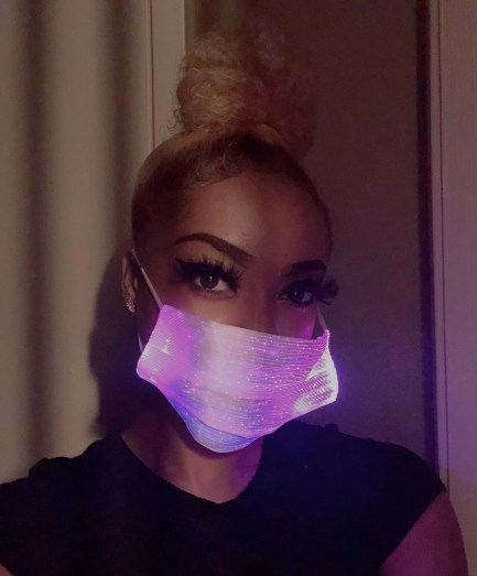 Bright LED 7 Color Changing Face Mask Clubwear Or Rave Wear