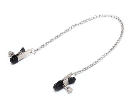 Flat Adjustable Nipple Clamps w/Connecting Chain