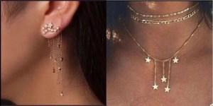 Goldtone Neckless Earring Bundle
