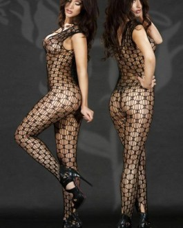 Fishnet One Piece Bodystocking Choice Of Red Or Black