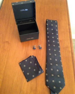 Men's Silk Tie Handkerchief And Cufflinks Gift Box Set – Styles And Colors For Father's Day