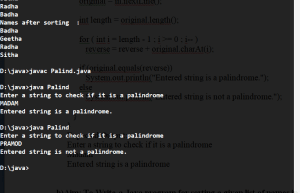 Write a java program to Checks whether a given string is a palindrome or not