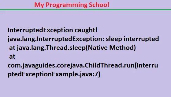 IntrruptedException