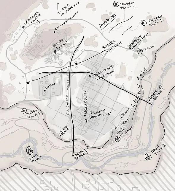 Croquis nouvelle map desert pubg